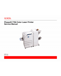 Xerox Phaser 7760 Parts List and Service Manual
