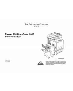 Xerox Phaser 790 DocuColor 2006 Parts List and Service Manual