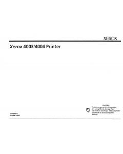 Xerox Printer 4003 4004 Dot-Matrix Printer Parts List and Service Manual