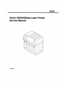 Xerox Printer 4520 4520mp Parts List and Service Manual