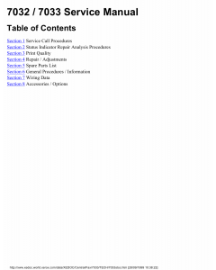 Xerox Printer 7032 7033 Fax Parts List and Service Manual