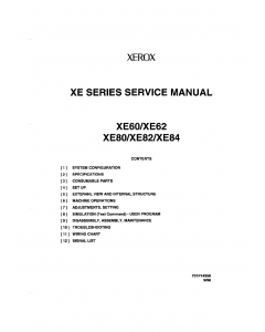 Xerox Printer XE60 62 80 82 84 Parts List and Service Manual
