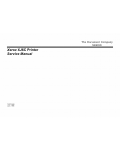 Xerox Printer XJ6C Inkjet Parts List and Service Manual