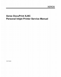 Xerox Printer XJ8C Inkjet Parts List and Service Manual