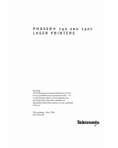 Xerox Tektronix-Phaser-740 740L Parts List and Service Manual