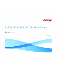 Xerox WideFormat 8265 8290 8365 8390 Parts List Manual