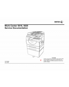 Xerox WorkCentre 5016 5020 Parts List and Service Manual