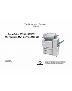 Xerox WorkCentre M24 DocuColor-3535 2240 1632 Parts List and Service Manual