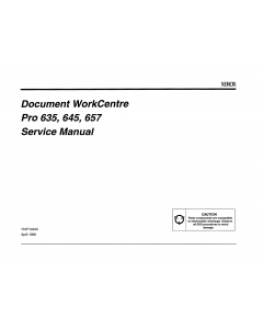 Xerox WorkCentre Pro-636 645 657 Parts List and Service Manual