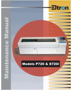 Zebra Eltron P720 S720i Maintenance Service Manual