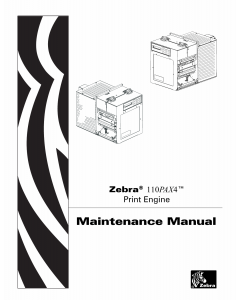 Zebra Label 110PAX4 Maintenance Service Manual
