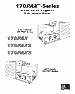 Zebra Label 170PAX 170PAX2 170PAX3 Maintenance Service Manual