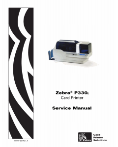 Zebra Label P330i Service Manual