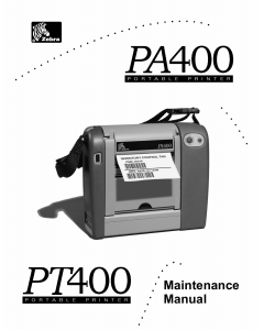 Zebra Label PA400 PT400F Maintenance Service Manual