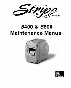 Zebra Label S400 S600 Maintenance Service Manual