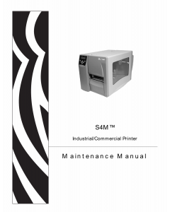 Zebra Label S4M Maintenance Service Manual