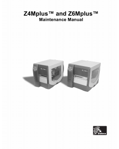Zebra Label Z4Mplus Z6Mplus Maintenance Service Manual