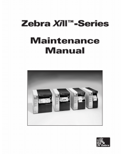 Zebra Label Z90 140 170 220 XiII Maintenance Service Manual