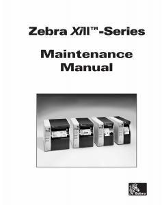 Zebra Label Z90 140 170 220 XiII Maintenance Service Manual