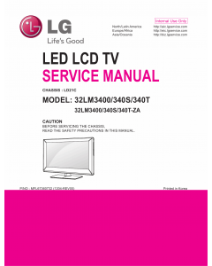 LG LCD TV 32LM3400 32LM340S 32LM340T Service Manual