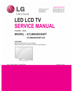 LG LCD TV 47LM640S 47LM640T Service Manual