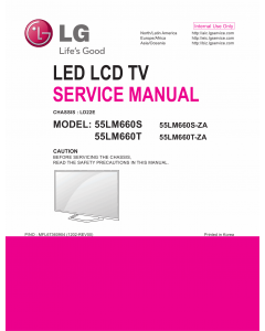 LG LCD TV 55LM660S 55LM660T Service Manual