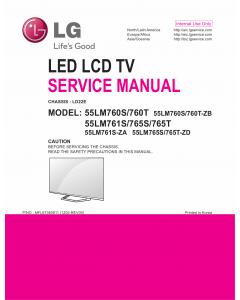 LG LCD TV 55LM760S 55LM760T 55LM761S 55LM761T 55LM765S 55LM765T Service Manual