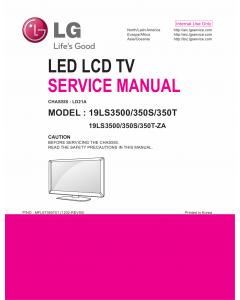 LG LED TV 19LS3500 19LS350S 19LS350T Service Manual