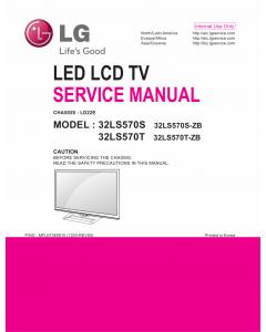 LG LED TV 32LS570S 32LS570T Service Manual