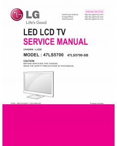 LG LED TV 47LS5700 Service Manual