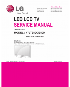 LG LED TV 47LT380C 47LT380H Service Manual