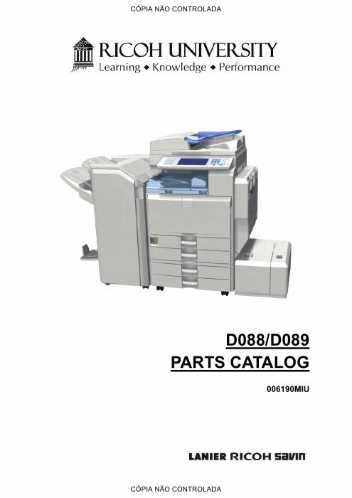 RICOH Aficio MP-C4501 C5501 D088 D089 Parts Catalog