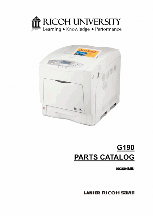 RICOH Aficio SP-C420DN G190 Parts Catalog