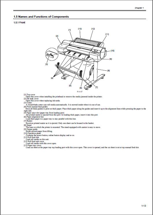 canon imageprograf ipf600 605 600 service manual rh qmanual com Canon IPF 6400 Canon IPF 6400