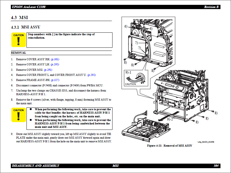 Epson Aculaser C1100_Color Service Manual-4