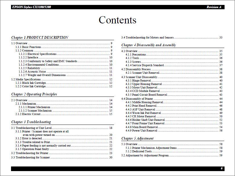 Epson stylus cx3100 3200 service manual.