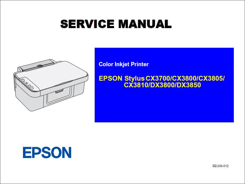 Epson Stylus Cx3700 Cx3800 Cx3805 Cx3810 Dx3800 Dx3850 Color ...