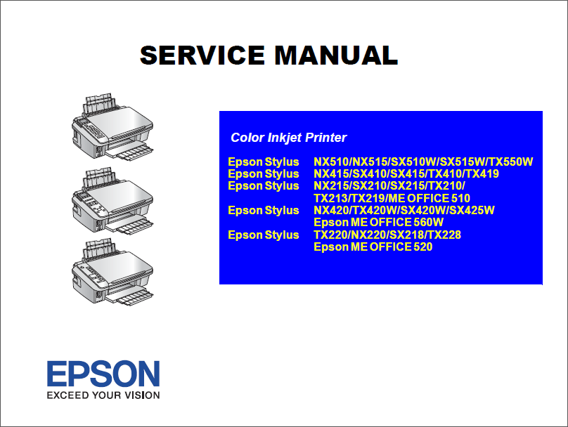 epson stylus nx420 tx420w sx420w me office 520 service manual epson stylus pro 7880 service manual epson stylus pro 3800 service manual