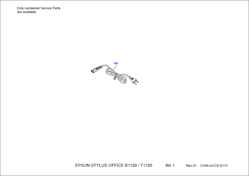 Epson Stylus Office T1110 B1100 T1100 1100 Parts Manual-1