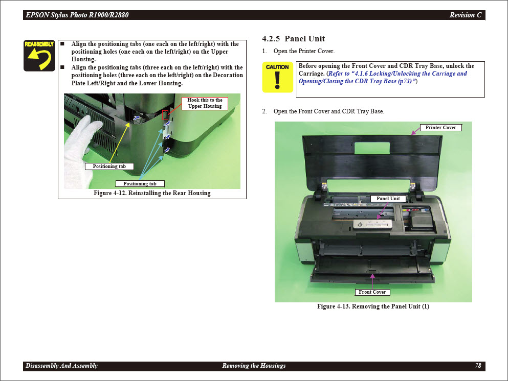 epson r2880 manual front