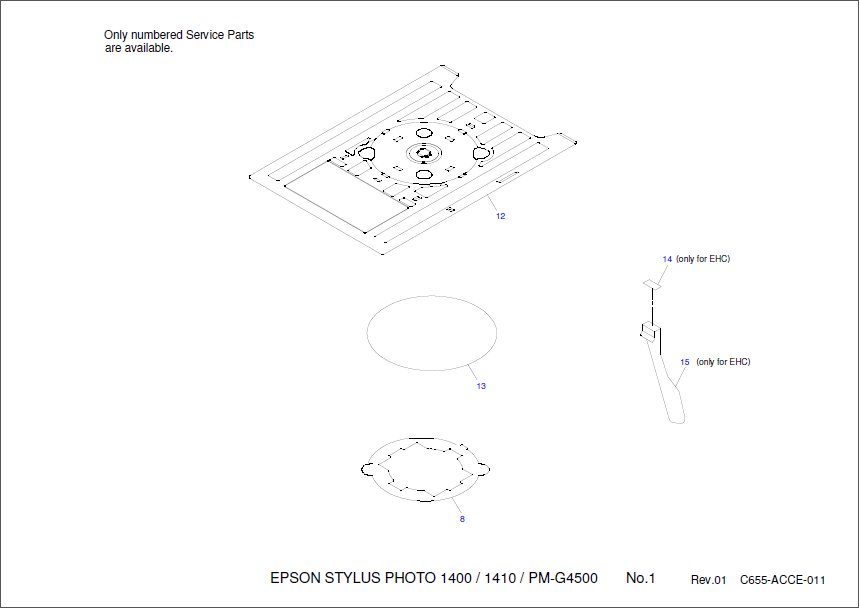 Epson Stylus Photo 1400 1410 Parts Manual