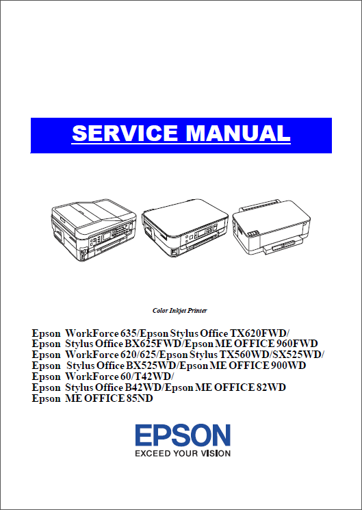Epson WorkForce 620 625 635 60 TX620 TX560 BX625 BX525 T42 B42 Service Manual-1