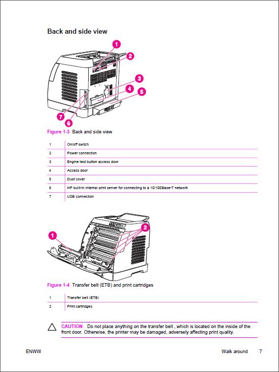 HP Color LaserJet 2600n Service    Manual        Repair    Printer