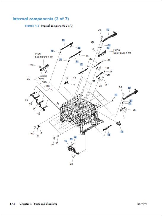 hp color laserjet cm4540 mfp service manual