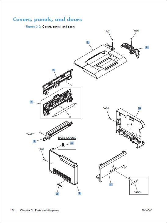 hp color laserjet cp1020 cp1025 service manual