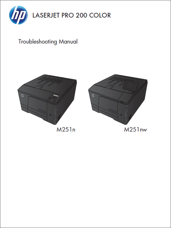 HP Color LaserJet M251 Service Troubleshooting Manual-1