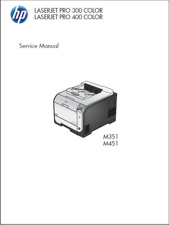 HP Color LaserJet M351 M451 Service Manual-1