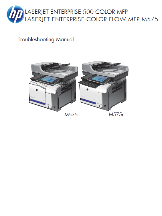 HP Color LaserJet M575 MFP Service Troubleshooting Manual-1