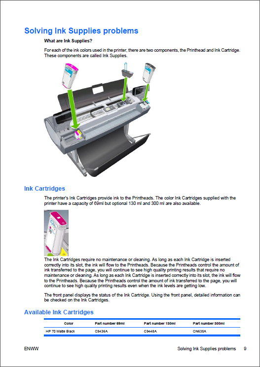hp designjet 130nr service manual