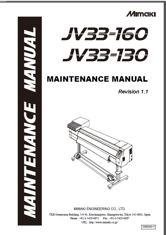 MIMAKI_JV33_160_130_Maintenance_Service_Manual_D500346_2007v1.1-1
